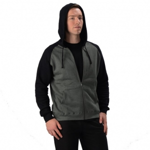 Men's Hemp 2 Tone Zip Hoodie with Pockets