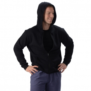 Men's Hemp Zip Hooded Jacket with Pockets from Eco-Essentials