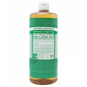 Dr. Bronner's All-in-one Hemp Almond Liquid 473ml Pure-castile Soap