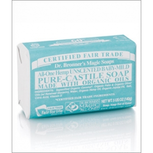 Dr. Bronner's All-in-one Hemp Baby Unscented Pure-castile Soap